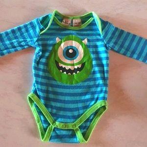 Size 000 Disney Pixar Monsters Inc onesie